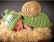 Aistore Baby Newborn Photography Prop Baby Handmade Crochet Knitted Costume Hat Set 046