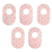 Pink and Aqua Nursery Closet Rod Organisers by Little Haven