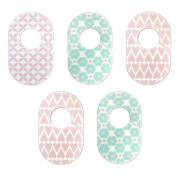 Pink and Lilac Nursery Closet Rod Organisers by Little Haven