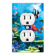 GOT YOU COVERED FINDING NEMO 3 DORY AND FRIENDS LIGHT SWITCH COVER OR OUTLET (