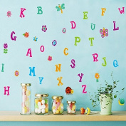 English Alphabet Letters Butterfly Sunflowers Snail Dragonfly Wall Decal PVC Home Sticker House Vinyl Paper Decoration WallPaper Living Room Bedroom Art Picture DIY Murals Girls Boys kids Nursery Baby