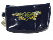 Keyring Coin Purse Navy Vinyl Book of Kells