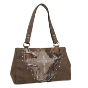 RealTree Western Handbag Womens Marie Conceal Satchel Brown 1646231