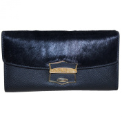 CINDIE Women's Genuine Leather Trifold Wallet Card Case Purse