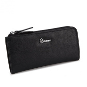 Luxanne Simplicity Black Medium Wallet