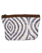 Beautiful Cotton & Durrie White Pouch Ogee Hand Block Printed For Women By Rajrang