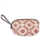 Dazzling Cotton & Durrie Pink Pouch Geometric Printed For Women By Rajrang