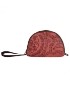 Eye-Catching Cotton & Durrie Red Pouch Floral Hand Block Printed For Womens By Rajrang