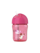 Avent Cup with Straw 260ml 12 Months + - Colour : Pink