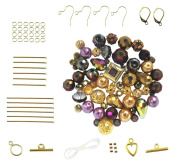 Purple & Gold Tone Bead Set