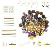 Purple & Gold Tone Bead Set