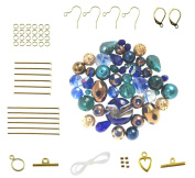 Cobalt Blue & Teal Bead Set