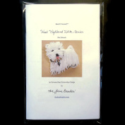 Bead It Yourself WESTIE Dog Brooch Bead Embroidery Beading Kit by The Lone Beader