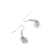 10 Pairs Jewellery Making Antique Silver Tone Earring Supplies Hooks Findings Charms B3YR3 Love Lock