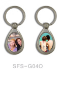 12 PCS Sublimation Oval Keychain Key rings Dye Heat transfer Blank