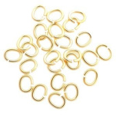 SNAPEEZ II ULTRAPLATE Ellipse -The Oval 24 kt. Gold Ring Hard Open Jump 10x8mm Heavy Gauge