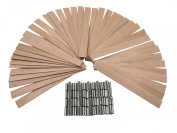 EricX Light 40 Piece 13cm Wood Candle Wicks,For Candle Making,Candle DIY