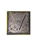 "Emco Metal Stamp ""V"" for Sealing Wax Mediaeval Floral Paisley Design 2.2cm x 2.2cm"
