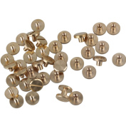 20pc 4x4mm Rod Chicago Binding Screw Nail Rivet for DIY Craft Wallet Photo Album