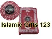 TRAVEL pocket Muslim prayer Mat-Islamic Gifts 123-Ramadan Gift--MIX Colours