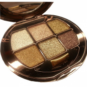 TF-Duan Elegant Ladies 6 Colours Waterproof Make UP Glitter Eyeshadow Palette with Brush and Mirror