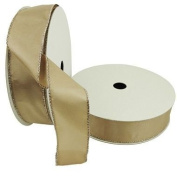 Members Mark Premium Ribbon Gold Metallic Ribbon- Wired Edge, 3.8cm by 50-Yards, Gold
