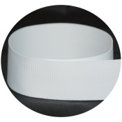 USA Made 1.6cm White Solid Grosgrain Ribbon - 20 Yards -