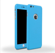 iPhone 5/5s Full Body Case-Superstart Blue Ultra Slim Front and Back PC Hard Cover + Tempered Glass Sreen Protector for iPhone 5/5s