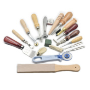 Leather Craft Tool 18 Hand Sewing finger Groover Compound Skiving Knife Kit Awl
