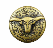 Screw-eye Bull Brass Concho Button Biker Motorcycle Leather Accessory