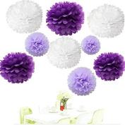 Since . 18Pcs of 20cm 25cm 36cm 3 Colours Mixed White Purple and Lavender Tissue Paper Flowers, Tissue Paper Pom Poms, Wedding Decor, Party Decor, Pom Pom Flowers, Tissue Paper, Tissue Paper Flowers Kit, Pom Poms Craft, Wedding Pom Poms, Pom Poms Decor ..
