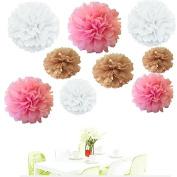 Since . 18Pcs of 20cm 25cm 36cm 3 Colours Mixed White Tan Pink Tissue Paper Flowers, Tissue Paper Pom Poms, Wedding Decor, Party Decor, Pom Pom Flowers, Tissue Paper, Tissue Paper Flowers Kit, Pom Poms Craft, Wedding Pom Poms, Pom Poms Decoration
