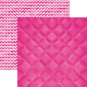 Paper House Productions P-3095E Flamingo Quilted Papers, 30cm Colorways double Sided