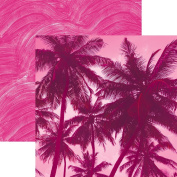 Paper House Productions P-3085E Flamingo Palm Trees Papers, 30cm Colorways double Sided