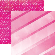 Paper House Productions P-3088E Flamingo Stripes Papers, 30cm Colorways double Sided