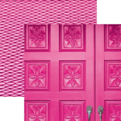 Paper House Productions P-3089E Flamingo Door Papers, 30cm Colorways double Sided