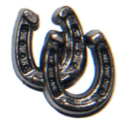 25 Old Silver Double Horseshoes Upholstery, Framing, Candle Tacks, Decorative Nails. About 1.3cm
