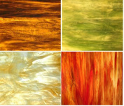 Autumn Flavour Wissmach Stained Glass Sheet Pack