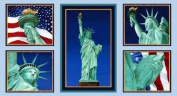Statue of Liberty Quilt Block Fabric Panel (Great for Quilting, Sewing, Craft Projects, a Quilt, Throw Pillows & More) 60cm X 110cm Wide