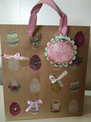 Punch Studio Easter Gift Bag kraft paper