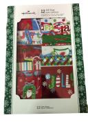 Hallmark 12-Piece Expressions Gift Bag Assortment SNOWMAN/SANTA