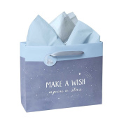 CR Gibson Wish Upon A Star Large Embellished Gift Bag Blue