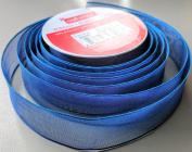 Craftsmart Blue Sheen Pattern 2.5cm . X 2.7m 100% Polyester Ribbon - Great for Any Occasion!