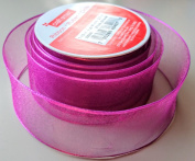 Craftsmart Dark Purple Sheen Pattern 3.8cm . X 2.7m 100% Polyester Ribbon - Great for Any Occasion!