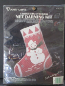 Vogart Crafts Christmas Stocking Net Darling Kit Snowman