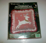 Vogart Crafts Christmas Pillow Net Darling Kit Reindeer Pillow