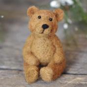 CHICVITA DIY Needlecraft Needle Felting Character Kits:Teddy Bear
