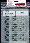 ANMHS0020 Anarchy Models HS Stencil System - #20 Sci Fi Corridor Game Creator 30mm Squares