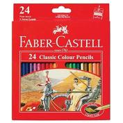 Faber Castell Premium Classic Colour Pencils, 24 Colour Pencils