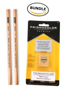 2 Prismacolor Premier Colourless Blender Pencils + Prismacolor 3 Eraser Set BUNDLE
